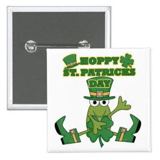 Hoppy St Patricks Day Tshirts and Gifts Pins