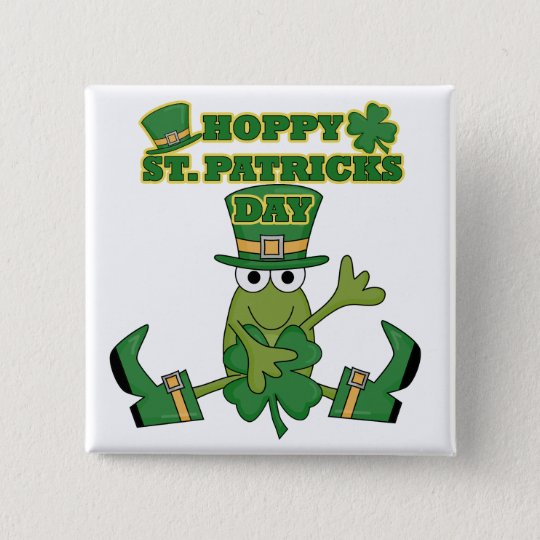 Hoppy St. Patricks Day Tshirts and Gifts Pinback Button