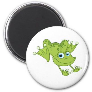 Hoppy the Happy Frog 2 Inch Round Magnet
