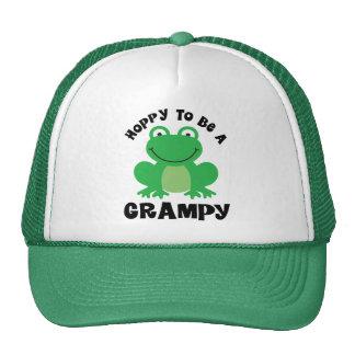 Hoppy To Be A Grampy Gift Trucker Hat