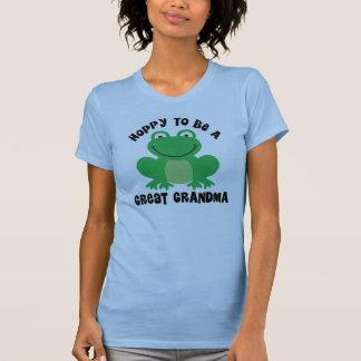 Hoppy To Be A Great Grandma Gift Tshirt