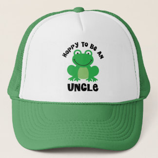 Hoppy To Be A Uncle Gift Trucker Hat