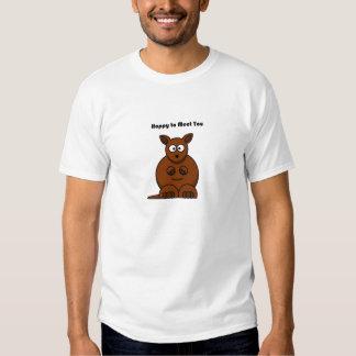 Hoppy to Meet You Kangaroo Cartoon Shirt