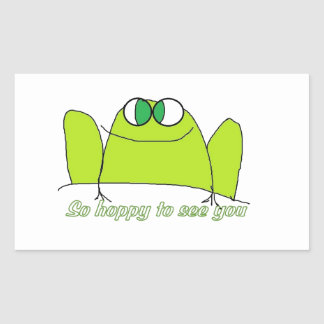 Hoppy to see you rectangular sticker