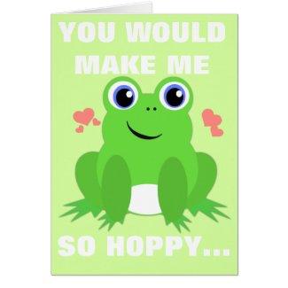 Hoppy Valentine Greeting Card