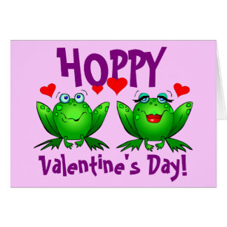Hoppy Valentines Funny Frogs Blank Cards