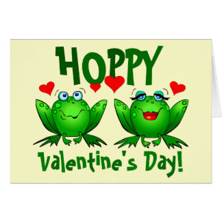 Hoppy Valentines Happy Frogs Blank Cards