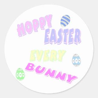 hoppyeaster classic round sticker