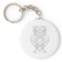 Hops and Barley Owl Celtic Knotwork Keychain