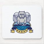 Hops and Barley Owl Celtic Knotwork Mouse Pad