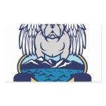 Hops and Barley Owl Celtic Knotwork Rectangular Sticker