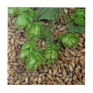 Hops and Malt Ceramic Tile