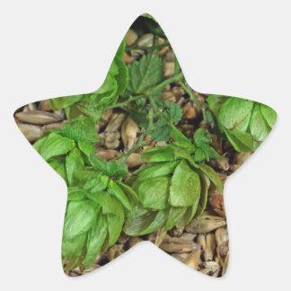 Hops and Malt Star Sticker