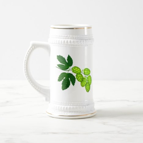 Hops Botanical Art Beer Stein