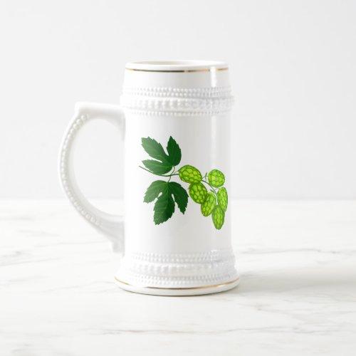 Hops Botanical Art Beer Stein