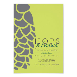 Hops & Brews | Brewery Party Invite
