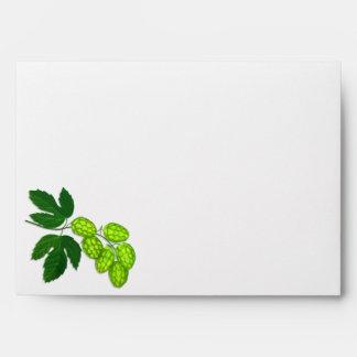 Hops Flower Botanical Art Envelope