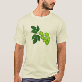 Hops Flower Botanical Illustration T-Shirt