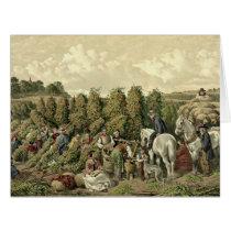 Hops Harvest 1857 Card