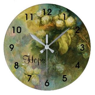 Hops Vintage Floral Clock