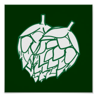 Hops wall hanging poster