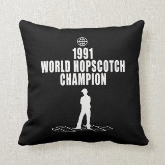 Hopscotch Champion Throw Pillow