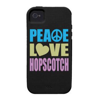 Hopscotch del amor de la paz vibe iPhone 4 funda