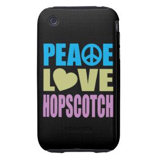 Hopscotch del amor de la paz iPhone 3 tough protector