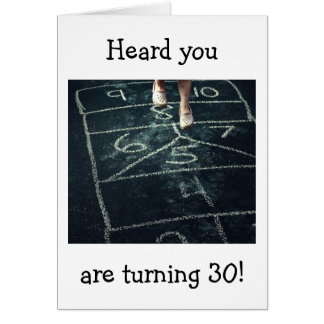HOPSCOTCH FUN ON YOUR 30TH BIRTHDAY CARD