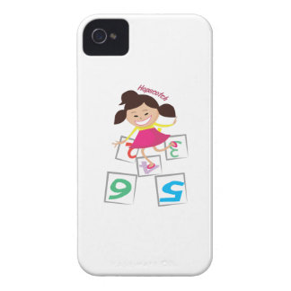 Hopscotch Girl iPhone 4 Covers