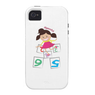 Hopscotch Girl Case-Mate iPhone 4 Case