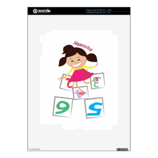 Hopscotch Girl Decals For The iPad 2