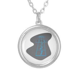 Hopscotch Round Pendant Necklace