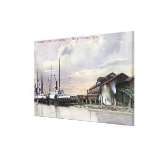 Hoquiam Lumber Mill Scene Canvas Print