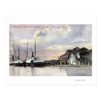 Hoquiam Lumber Mill Scene Postcard
