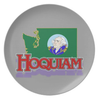 Hoquiam WA flag/map plate