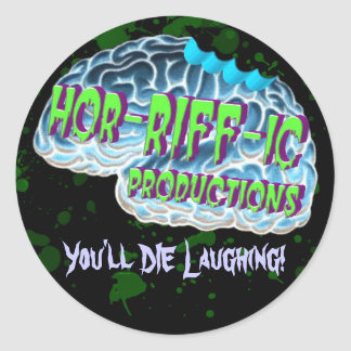 Hor-RIFF-ic Productions Classic Round Sticker