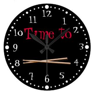 Hora adaptable de teclear blanco negro de los pali reloj de pared