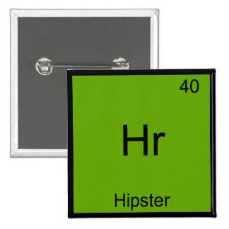 Hora - Camiseta divertida de la química de Meme de Pin Cuadrado