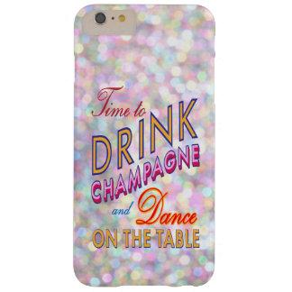 Hora colorida de beber el iPhone 6 de Champán más Funda Para iPhone 6 Plus Barely There