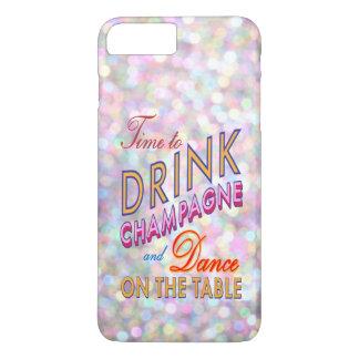 Hora colorida de beber el iPhone 7 de Champán más Funda iPhone 7 Plus