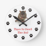 Hora de alimentar la rata reloj