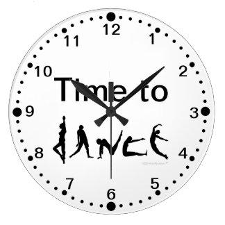 Hora de bailar el reloj de pared de las siluetas d