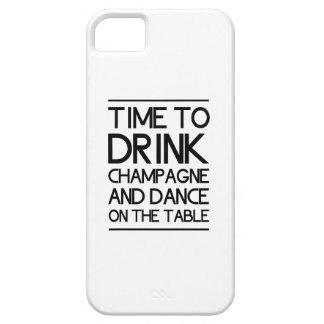 Hora de beber Champán y de bailar en la tabla iPhone 5 Carcasas