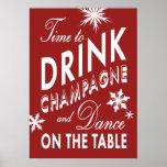 Hora de beber el poster del día de fiesta de