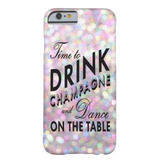 Hora de beber la caja del iPhone 6 de Champán en Funda Para iPhone 6 Barely There