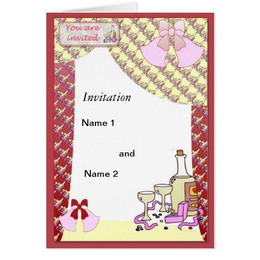 Hora de celebrar tarjeta de felicitación