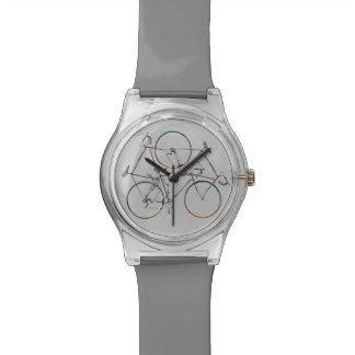 hora de ciclo elegante relojes de mano