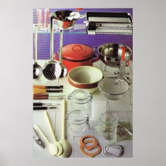 Hora de cocinar, preservando las cacerolas y los t póster