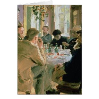Hora de comer, 1883 tarjeta de felicitación